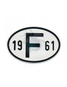PLACA 19 F 61